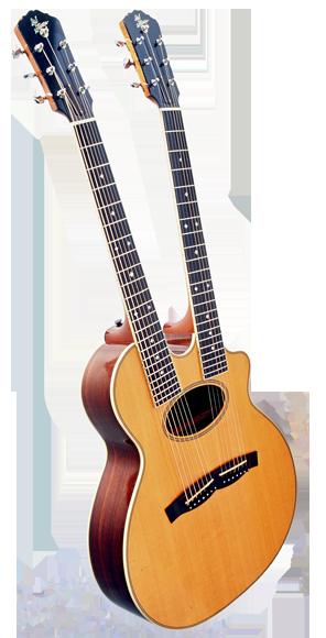 Double Neck Guitjo Acoustic Eidolon